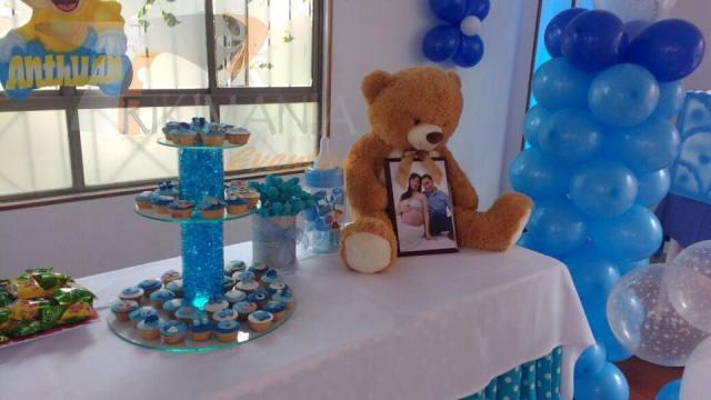 Baby shower azul osos trikimania eventos - Adornos baby shower nino ...