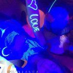 Maquillaje para fiesta Glow Party neon