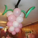 Racimo de uvas rosasdo