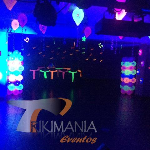 Decoracion para Miniteca Glow Party