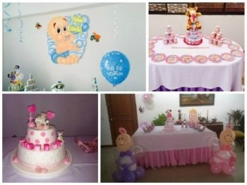 Como decorar una mesa para baby shower