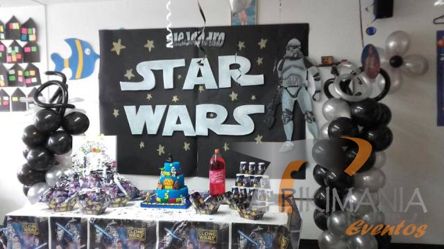 Decoracion star wars bogota trikimania eventos for Decoracion de cuarto star wars