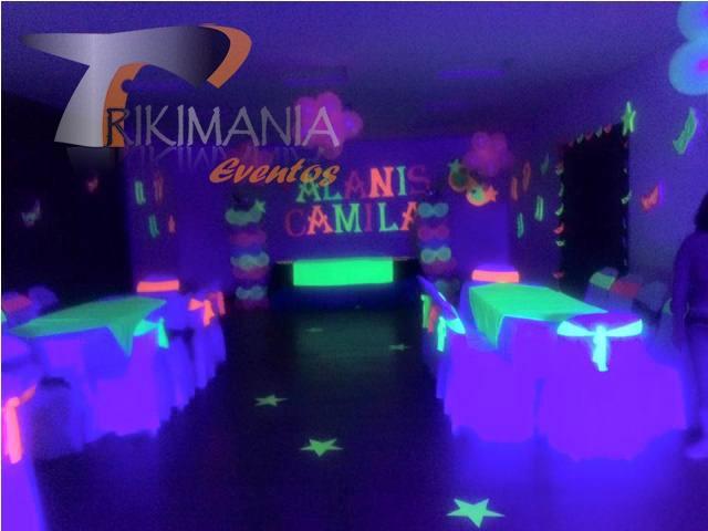 decoracion de fiesta neon
